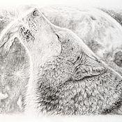 Картины и панно ручной работы. Ярмарка Мастеров - ручная работа картина Магия полнолуния. Handmade.