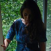 """Одежда ручной работы. Ярмарка Мастеров - ручная работа Авторское валяное платье """"Сasablanca"""". Handmade."""