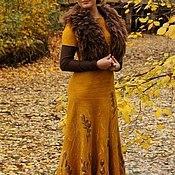 """Одежда ручной работы. Ярмарка Мастеров - ручная работа Валяное платье """"Золото осени"""". Handmade."""