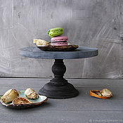 handmade. Livemaster - original item Wood Cake Stand 26 cm Cake platte. Handmade.
