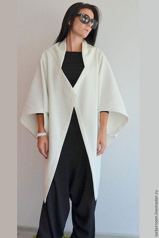 Верхняя одежда ручной работы. Ярмарка Мастеров - ручная работа. Купить Кардиган White(Black) Bat. Handmade. Кардиган, стильная одежда