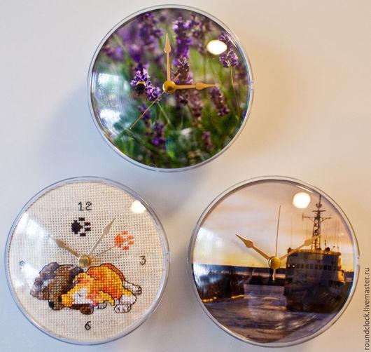 Часы для дома ручной работы. Ярмарка Мастеров - ручная работа. Купить Часы круглые Лето. Handmade. Лето, шмель, цветы