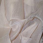 Ткани ручной работы. Ярмарка Мастеров - ручная работа Ткань тюлевая Батист Беж с оттенком пыльная роза (пудра). Handmade.