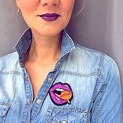 """Украшения ручной работы. Ярмарка Мастеров - ручная работа Брошь """"ChupaLips"""" Violet. Handmade."""