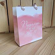 """Пакеты ручной работы. Ярмарка Мастеров - ручная работа Бумажный пакет """"Подарок от всего сердца"""". Handmade."""