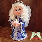 Куклы и игрушки ручной работы. Ярмарка Мастеров - ручная работа Ангел со свечей чулочная кукла. Handmade.