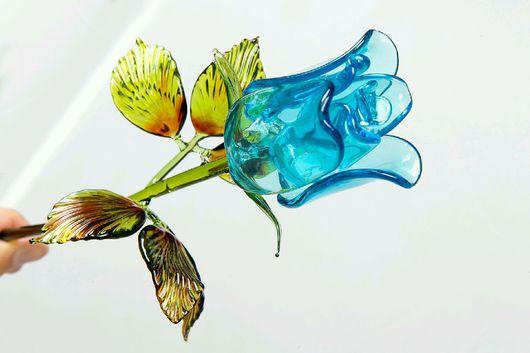 Подарки для влюбленных ручной работы. Ярмарка Мастеров - ручная работа. Купить Роза из стекла. Handmade. Роза из стекла, стеклянные цветы