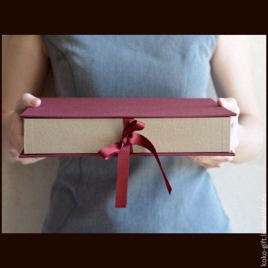 Подарочная упаковка ручной работы. Ярмарка Мастеров - ручная работа. Купить Подарочная коробка. Handmade. Бордовый, подарочная коробочка