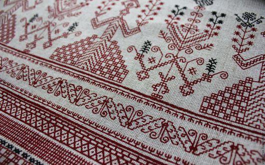 """Шитье ручной работы. Ярмарка Мастеров - ручная работа. Купить Ткань """"Берегиня"""" полульняная.. Handmade. Ткань, ткани, ткани для творчества"""