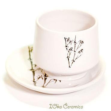 """Посуда ручной работы. Ярмарка Мастеров - ручная работа В наличии: Пиала - """"бамбук-минималист"""". Handmade."""