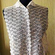 Винтаж ручной работы. Ярмарка Мастеров - ручная работа Ткань с манишкой на платье( ретро). Handmade.