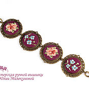 Украшения handmade. Livemaster - original item Embroidered bracelet Flower fields. Handmade.