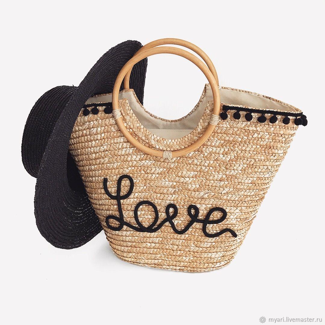 Женские сумки ручной работы. Ярмарка Мастеров - ручная работа. Купить  Соломенная сумка