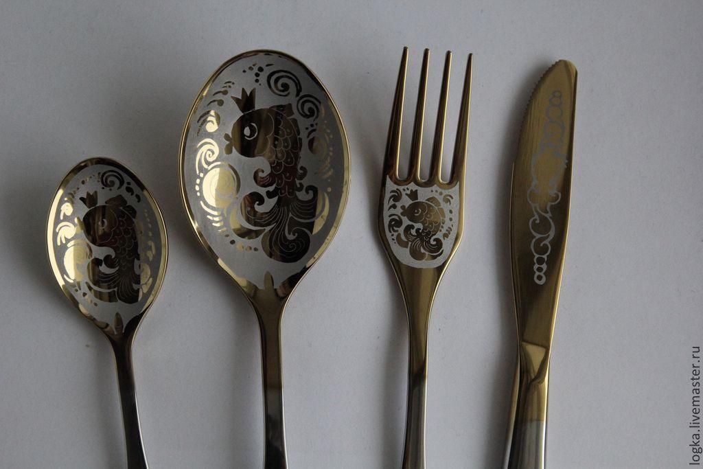 Table set 'goldfish ', Spoons, Vyazniki,  Фото №1