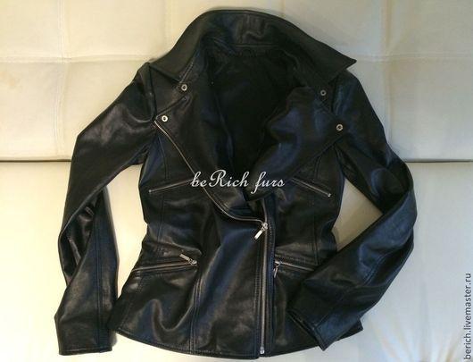 """Верхняя одежда ручной работы. Ярмарка Мастеров - ручная работа. Купить Куртка """"косуха"""" из натуральной итальянской кожи. Handmade. Однотонный"""