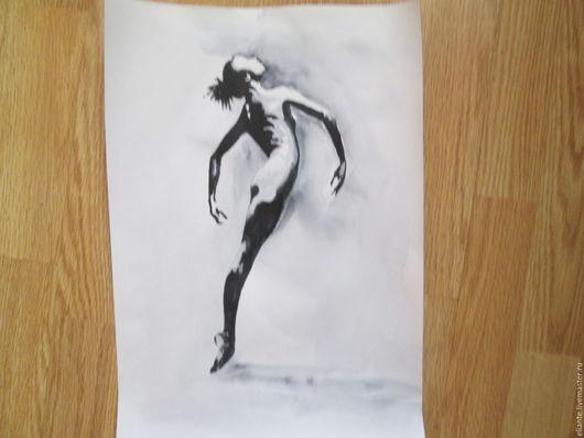Ню ручной работы. Ярмарка Мастеров - ручная работа. Купить картина 8 Балет- любовь моя. Handmade. Чёрно-белый