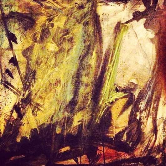 Абстракция ручной работы. Ярмарка Мастеров - ручная работа. Купить Абстрактная живопись. Colibri.. Handmade. Темно-серый, черный, абстракция
