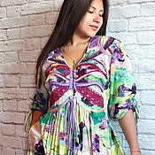 """Одежда ручной работы. Ярмарка Мастеров - ручная работа Бохо-платье """"Butterfly, акварель"""". Handmade."""