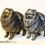 Для дома и интерьера ручной работы. Ярмарка Мастеров - ручная работа Померанский шпиц   - статуэтка (оловянная фигурка собаки). Handmade.