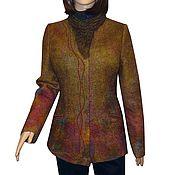 """Одежда ручной работы. Ярмарка Мастеров - ручная работа Валяная куртка """"Таинственный лес"""" нуновойлок. Handmade."""