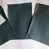 Материалы для творчества ручной работы. Ярмарка Мастеров - ручная работа листы экокожи №210 т-зеленый. Handmade.