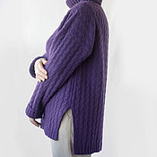 Одежда handmade. Livemaster - original item The oversized sweater with a high neckline. Handmade.