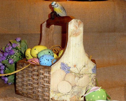 """Подарки на Пасху ручной работы. Ярмарка Мастеров - ручная работа. Купить """"Пасхальное лукошко"""". Handmade. Комбинированный, пасхальный декор"""