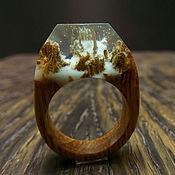 Украшения ручной работы. Ярмарка Мастеров - ручная работа Деревянное кольцо 16,5 размер, кольцо из дерева. Handmade.