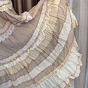 """Одежда ручной работы. Ярмарка Мастеров - ручная работа РАСПРОДАЖА """"Крем -брюле""""-летняя светлая,многоярусная юбочка.. Handmade."""