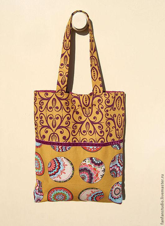 Женские сумки ручной работы. Ярмарка Мастеров - ручная работа. Купить Летняя сумка Curry. Handmade. Пляжная сумка