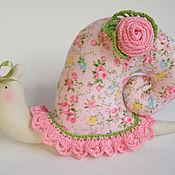 Куклы и игрушки ручной работы. Ярмарка Мастеров - ручная работа Тильда улитка розовая. Handmade.
