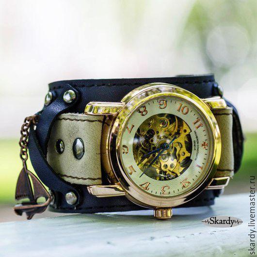 """Часы ручной работы. Ярмарка Мастеров - ручная работа. Купить Часы наручные механические скелетоны """"C-Parus"""". Handmade. парус"""