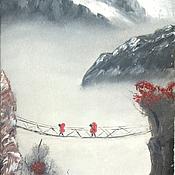 """Картины и панно ручной работы. Ярмарка Мастеров - ручная работа Картина """"В горах"""". Handmade."""