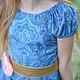 Одежда для девочек, ручной работы. Платье для девочки синее Хлопок. Camilla Reynolds. Интернет-магазин Ярмарка Мастеров. Нарядное платье