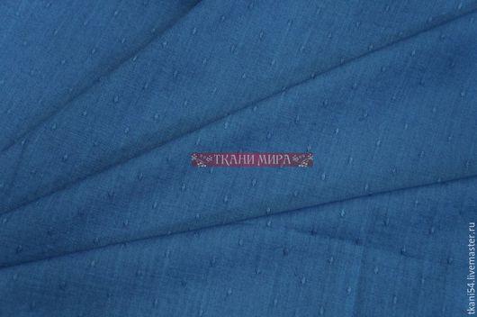 Шитье ручной работы. Ярмарка Мастеров - ручная работа. Купить Ткань сороч. джинс, 120 см, синий. Handmade. Синий