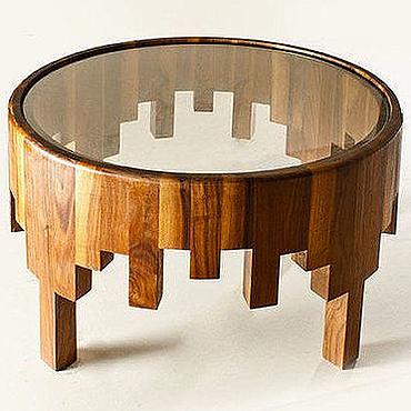Для дома и интерьера ручной работы. Ярмарка Мастеров - ручная работа Стол в стиле Лофт со стеклом. Handmade.