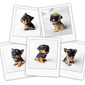 Материалы для творчества handmade. Livemaster - original item Silicone molds for soap Mini-dog No. №2. Handmade.
