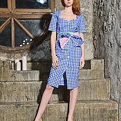 Одежда handmade. Livemaster - original item Summer blue dress. Handmade.