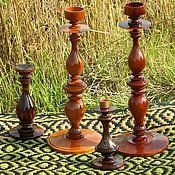 Для дома и интерьера ручной работы. Ярмарка Мастеров - ручная работа Подсвечник деревянный точеный. Handmade.