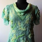 Одежда ручной работы. Ярмарка Мастеров - ручная работа Валяная блузка Летний день. Handmade.