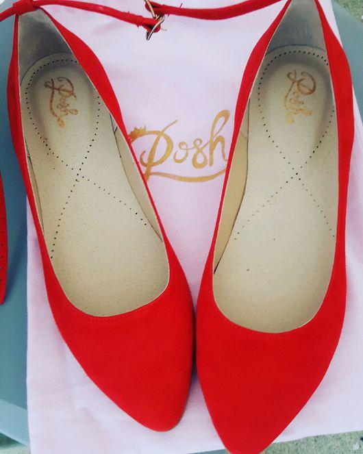 Обувь ручной работы. Ярмарка Мастеров - ручная работа. Купить Балетки Posh. Handmade. Балетки, туфли лодочки