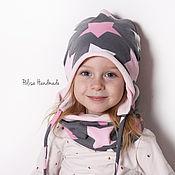 Работы для детей, ручной работы. Ярмарка Мастеров - ручная работа Двусторонний комплект: шапка и снуд. Handmade.