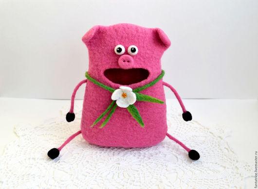 """Игрушки животные, ручной работы. Ярмарка Мастеров - ручная работа. Купить Свинка-копилка """"Хочу на Бали!"""". Handmade. хрюшка, свинка"""