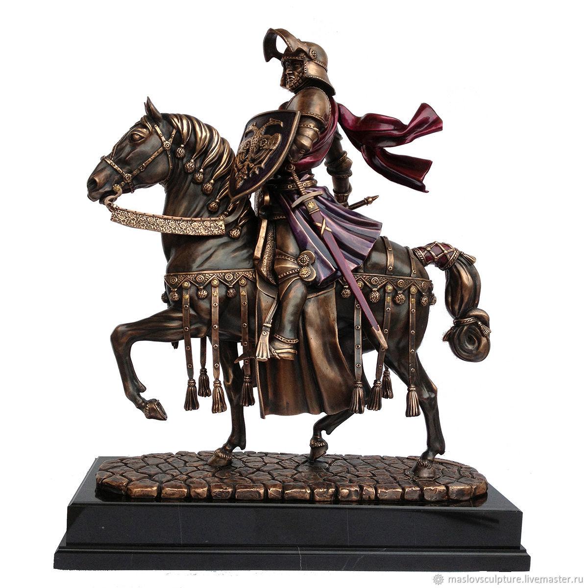 Скульптура из бронзы Рыцарь на коне, Статуэтка, Москва,  Фото №1