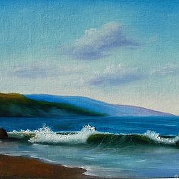 """Картины и панно ручной работы. Ярмарка Мастеров - ручная работа Картина морской пейзаж """"Одинокая волна-2"""" - картина маслом. Handmade."""