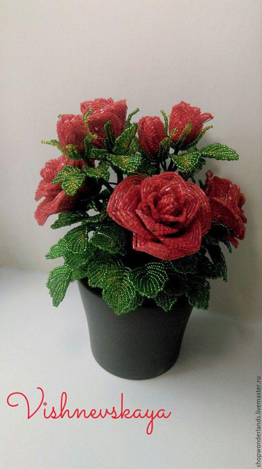 Цветы ручной работы. Ярмарка Мастеров - ручная работа. Купить Роза кустовая или орхидея. Handmade. Комбинированный, роза из бисера