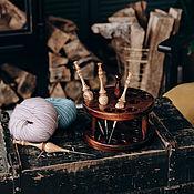 Материалы для творчества handmade. Livemaster - original item Organizer for knitting hooks (stand) O1. Handmade.