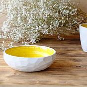 """Посуда ручной работы. Ярмарка Мастеров - ручная работа Салатник """"Белый камень"""". Handmade."""