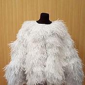 Одежда ручной работы. Ярмарка Мастеров - ручная работа Накидка-кейп из страусиных перьев. Handmade.