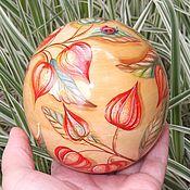 Для дома и интерьера handmade. Livemaster - original item Box ball Physalis Souvenir Painting on wood. Handmade.
